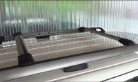 Багажник на рейлинги Nissan Pathfinder 2006-14, Lux Hunter, серебристый, крыловидные аэродуги