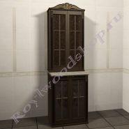 """Тумба и шкаф для стиральной машины """"Глазго-67 орех"""""""