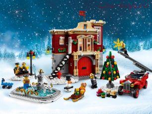 Конструктор BELA Creator Пожарная часть в зимней деревне 11041 (Аналог LEGO Creator 10263) 1197 дет