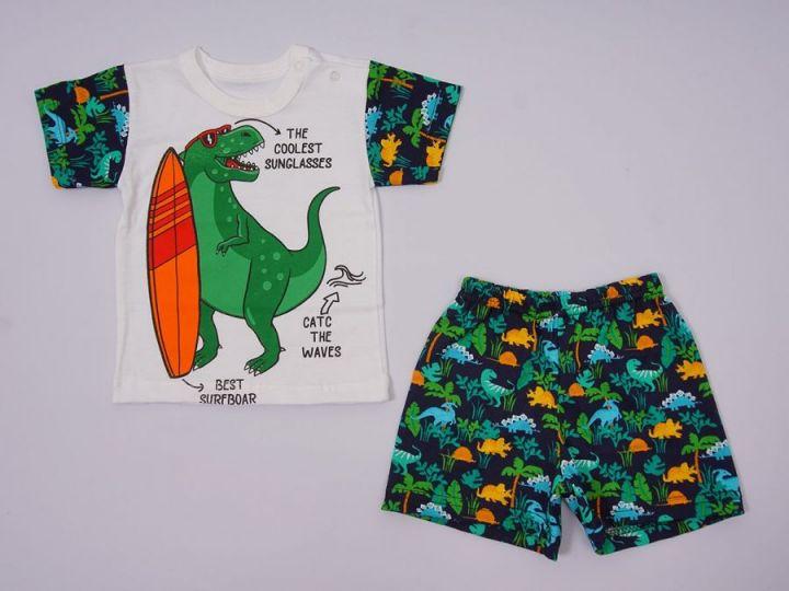 Костюм: футболка 2 кн., шорты kA-KS069(2)-SUk / 100% хлопок / динозавр