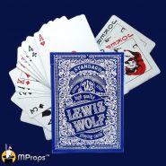 Игральные карты Miland Lewis & Wolf BLUE (стандартный индекс)