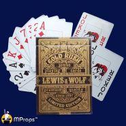 Игральные карты Miland Lewis & Wolf GOLD (Jumbo индекс)
