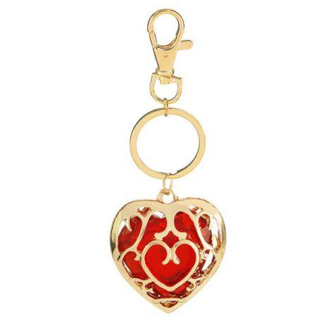 Брелок сердце 4х3,5см, цвет красный