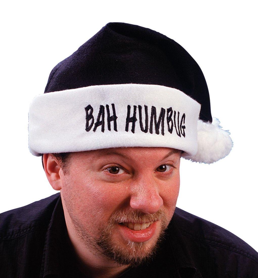 Черная шапка Санты Bah Humbug