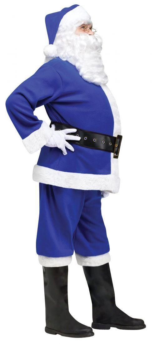 Синий костюм Санты