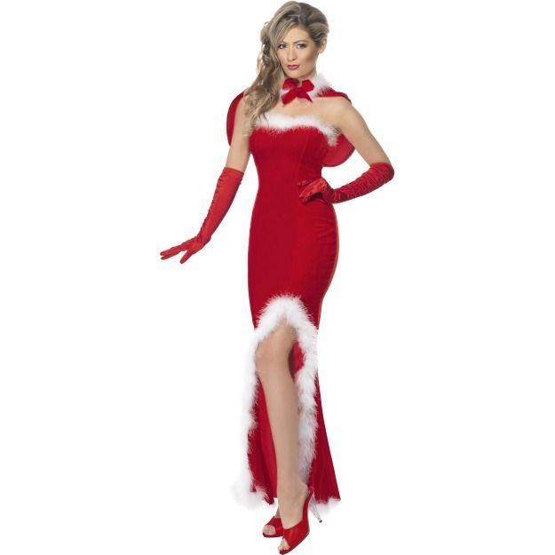 Элегантный костюм мисс Санты