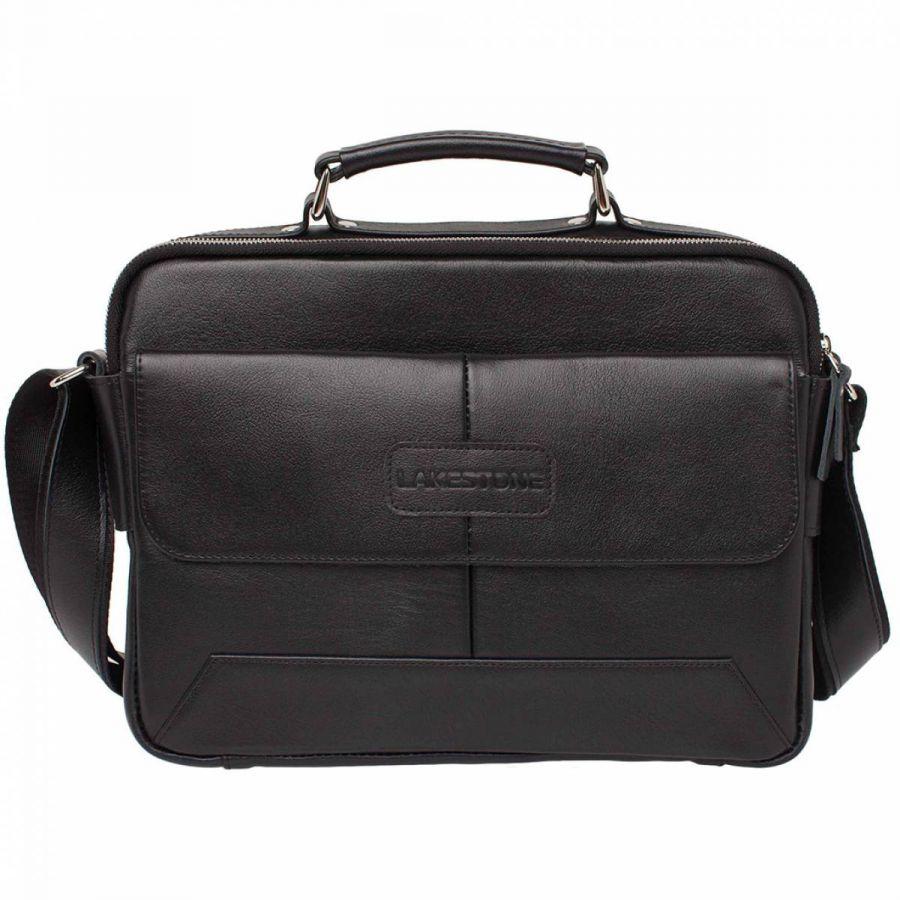 Мужская деловая сумка Lakestone Button Black