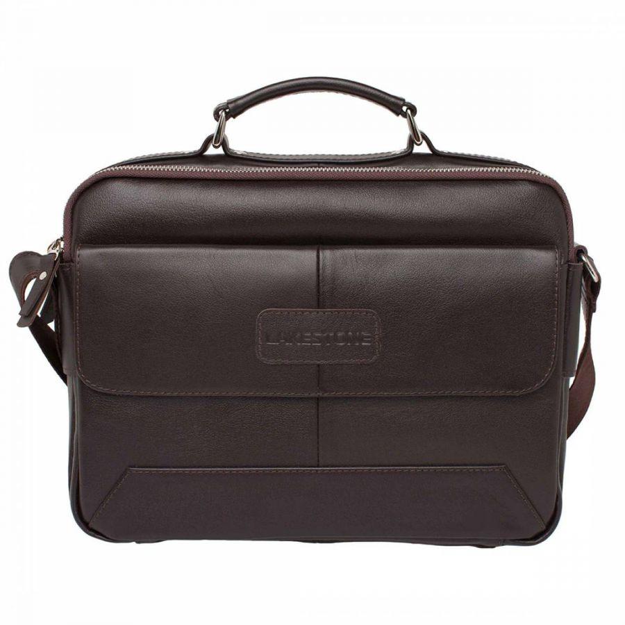 Мужская деловая сумка Lakestone Button Brown