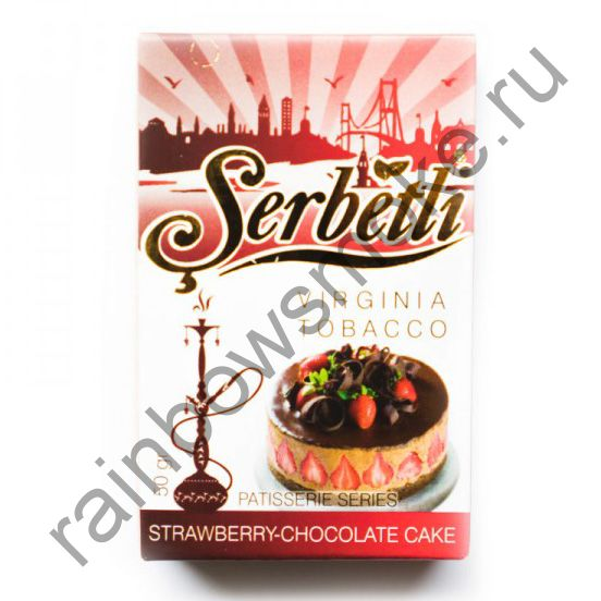 Serbetli 50 гр - Strawberry Chocolate Cake (Клубнично-шоколадный пирог)