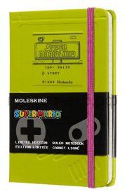 Книжка зап.Moleskine Pocket Super Mario линейка зеленый Game Boy LESMMM710GB