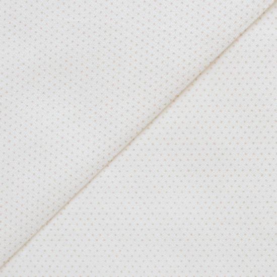 Хлопок - Бежевые точки на молочном 50х40