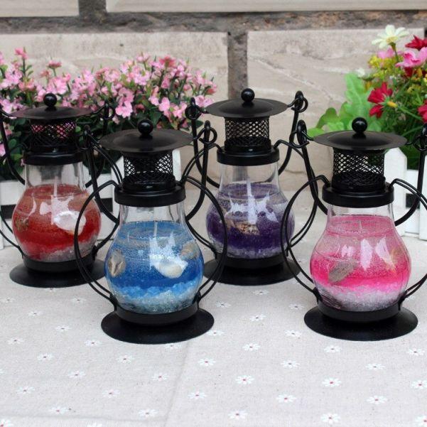 Гелевая свеча Чёрная Керосиновая Лампа, 13 см