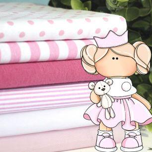 Набор тканей для пошива Клубничное мороженое