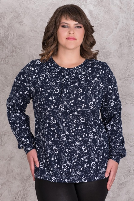 Блуза женская арт.0143-79 с узором, масло с начесом