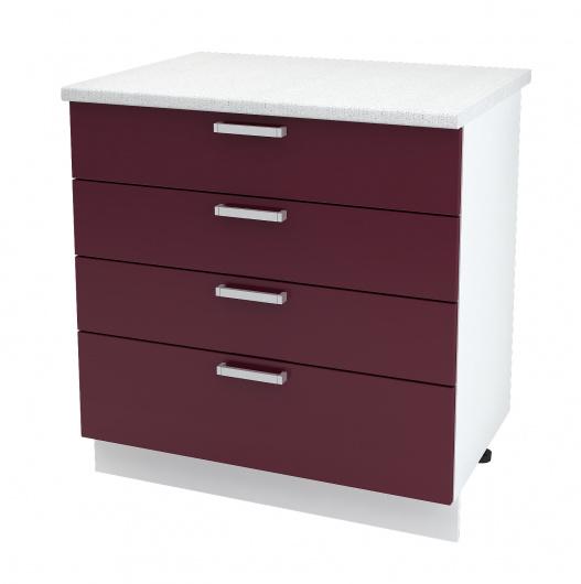Шкаф нижний с четырьмя ящиками Линда ШН4Я 800