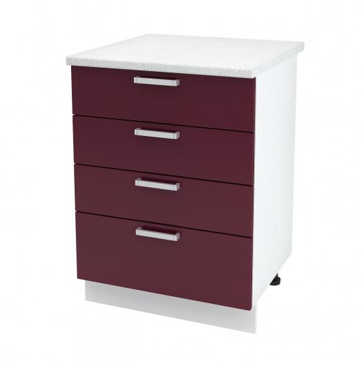 Шкаф нижний с четырьмя ящиками Линда ШН4Я 600