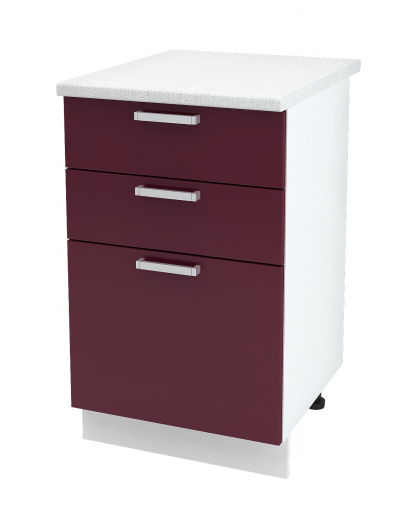 Шкаф нижний с тремя ящиками Линда ШН3Я 500