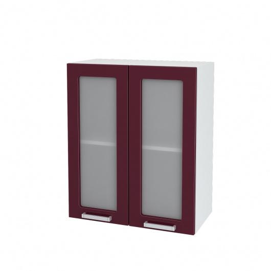 Шкаф верхний 2-х дверный со стеклом Линда ШВС 600