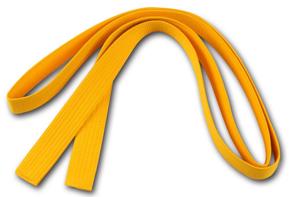 Пояс для кимоно RA-009 2.6м желтый