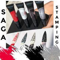 Гель-краска Saga для стемпинга, 7 мл (черный)