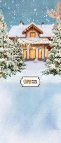 """Фон """"New year №21"""" 3x1,5 (3,5x1,5 м)"""