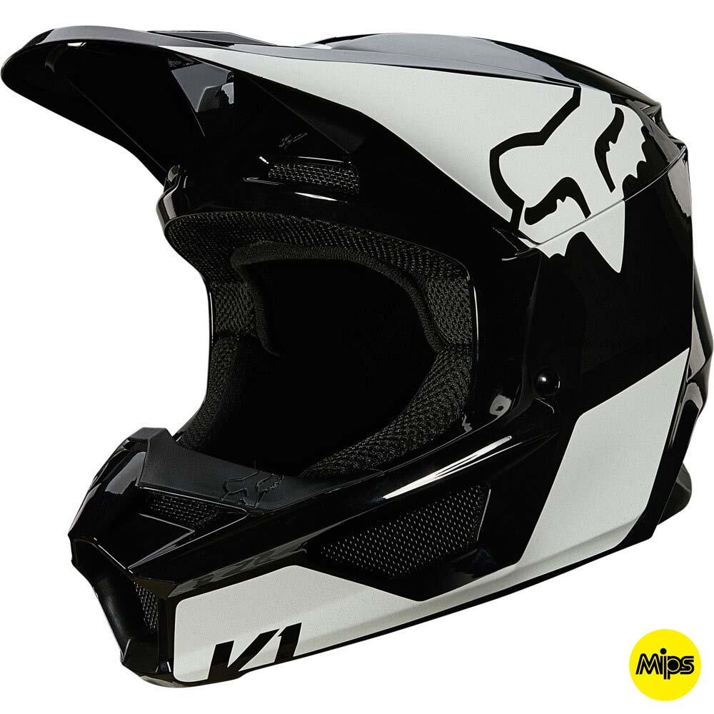 Fox V1 Revn Black/White шлем внедорожный