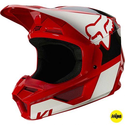 Fox V1 Revn Flame Red шлем внедорожный