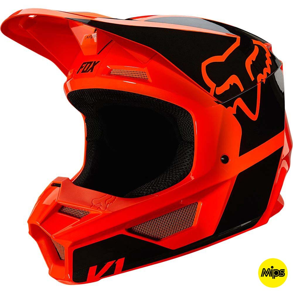 Fox 2021 V1 Revn Fluorescent Orange (MIPS) шлем внедорожный
