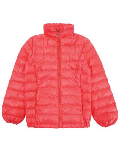 Однотонная стеганая куртка для девочки 9-13 лет Bonito малиновая