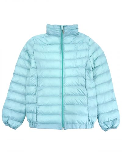 Однотонная стеганая куртка для девочки 9-13 лет Bonito бирюзовая