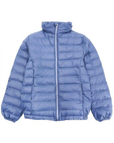 Однотонная стеганая куртка для девочки 9-13 лет Bonito серая