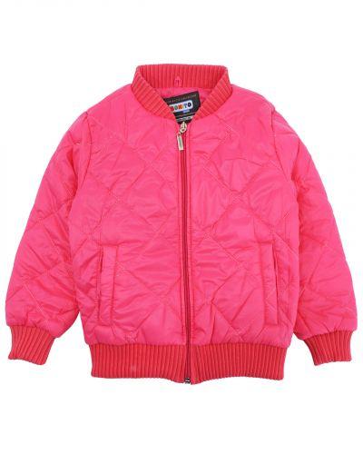 Однотонная стеганая куртка для девочки 3-7 лет Bonito розовая