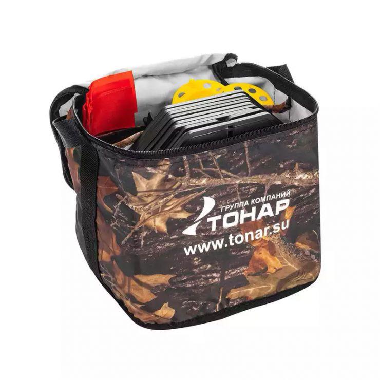 Набор жерлиц оснащенных в сумке ЖЗО-03 d-210мм катушка d-85мм 10 шт Тонар