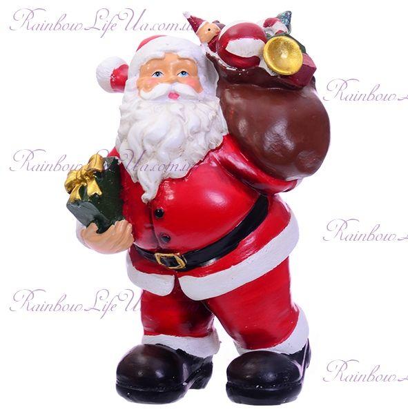 """Фигурка новогодняя """"Санта Клаус с мешком подарков"""""""