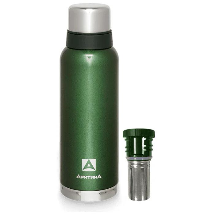 Термос АРКТИКА 106-1200C зеленый с ситечком