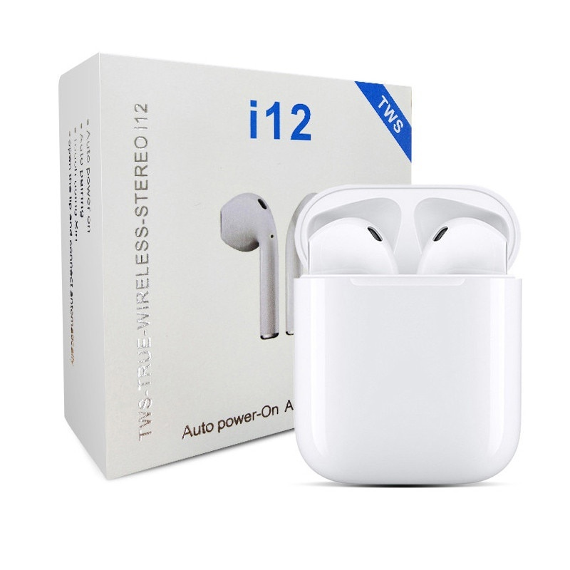 Наушники Беспроводные с микрофоном I12-TWS белые