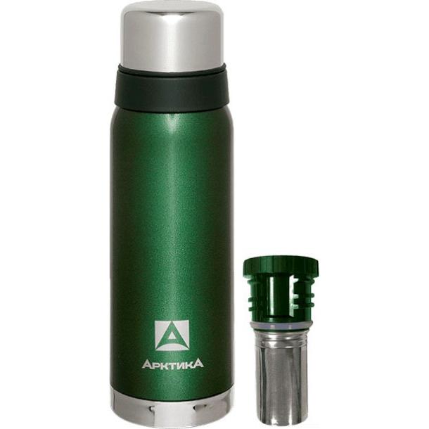 Термос АРКТИКА 106-900C зеленый с ситечком