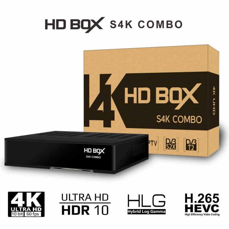 Спутниковый ресивер HD BOX S4K Combo