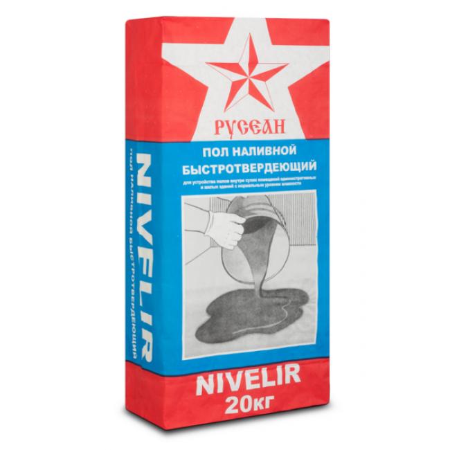 Наливной пол Нивелир тонкослойный Русеан 3-80мм 20кг