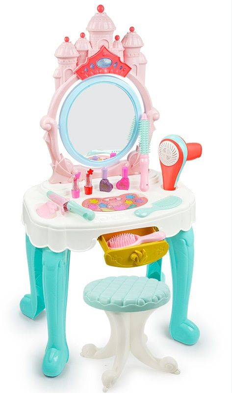 7939  Трюмо детское туалетный столик для девочки со стульчиком и косметикой