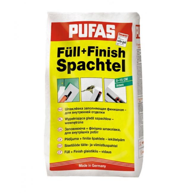 Шпаклевка финишная Pufas Full+Finish №1 заполняющая 20кг