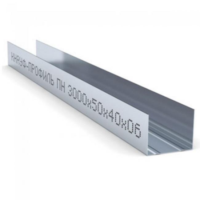 Профиль направляющий ПН 50х40х0,6мм L=3м Knauf
