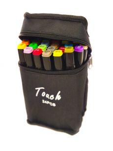 Набор двухсторонних фломастеров Touch Lecai для скетчинга 24 штуки