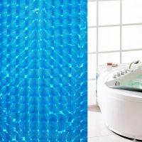 3D Штора для ванной 180х180 см_1