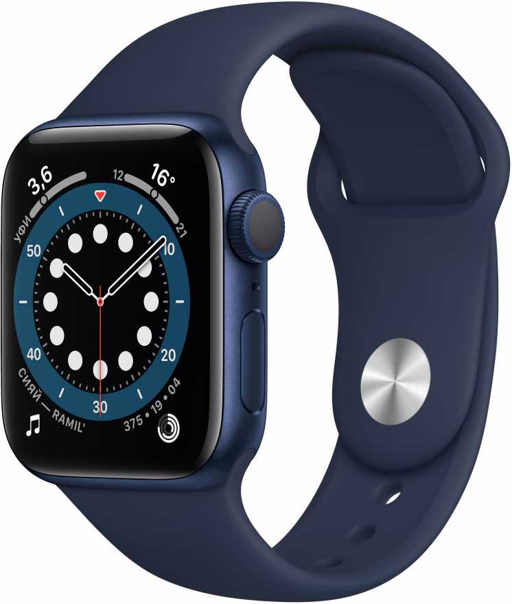 Apple Watch Series 6, 40 мм, синий