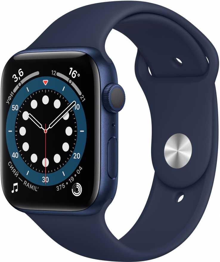 Apple Watch Series 6, 44 мм, синий