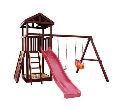 Детская деревянная площадка IgraGrad Панда Фани Gride с большим скалодромом