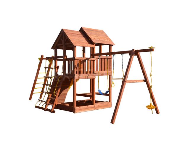 Игровая площадка Playgarden SkyFort II стандарт с рукоходом, манкибаром