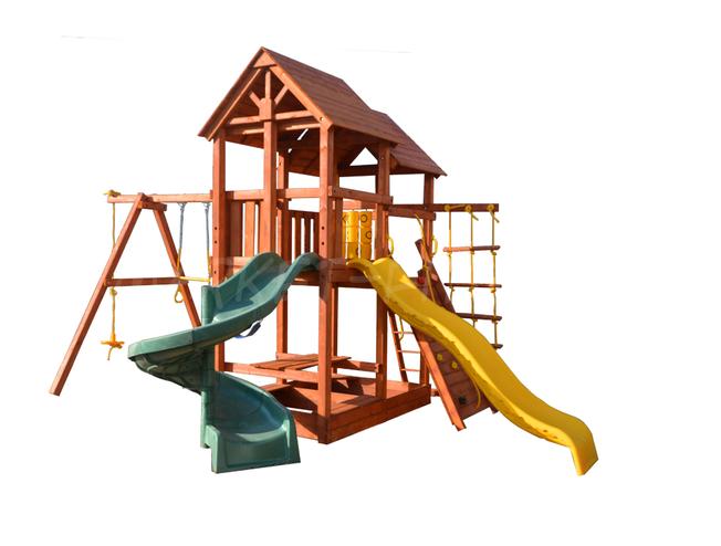 Игровая площадка Playgarden SkyFort стандарт со спиральной и прямой горкой с волной