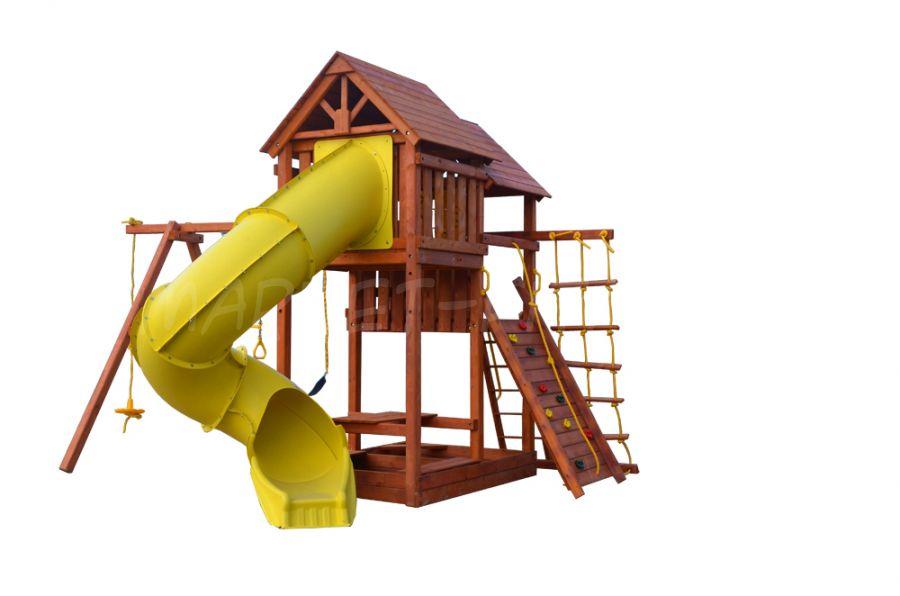 Игровая площадка Playgarden SkyFort Deluxe с горкой и горкой-трубой